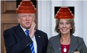 Trump and Betsy DeVos as Devos