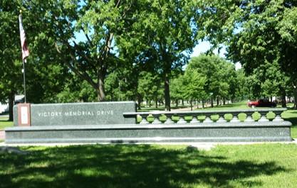 Commemorative sign for Victory Memorial Drive, Minneapolis