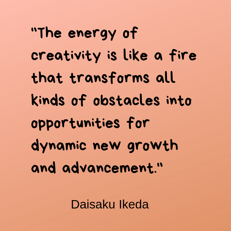 A quote about creativity