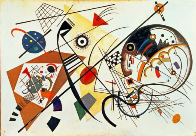 Transverse Line, a painting Wassily Kandinsky in 1923